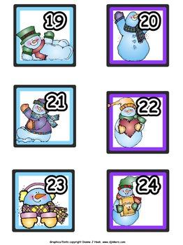 Calendar Numbers: December-January