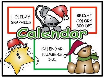 Calendar Numbers: December