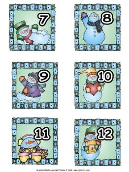 Calendar Numbers: December/January