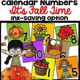 Calendar Numbers Fall