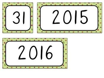 Calendar Numbers - Fall Theme