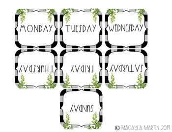 Calendar Numbers {Farmhouse Calendar Numbers}