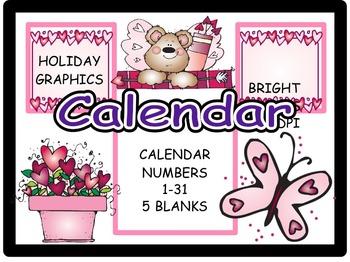 Calendar Numbers: February (6)