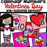 Calendar Numbers February Valentines Day
