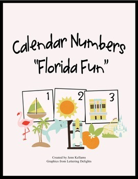 "Calendar Numbers ""Florida Fun"""