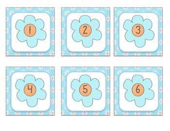 Calendar Numbers - Flowers Theme