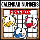 Calendar Numbers Freebie