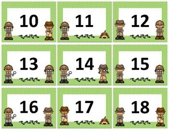 Calendar Numbers~ Green Polka Dot Detective