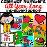 Calendar Numbers  Bundle