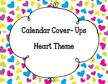 Calendar Numbers- Hearts