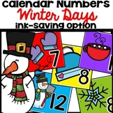 Calendar Numbers January Winter