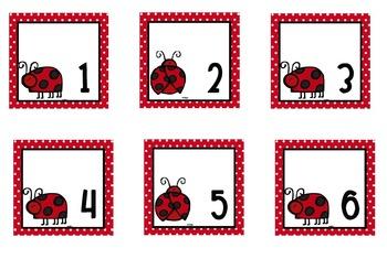 Calendar Numbers- Ladybugs