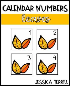 Calendar Numbers: Leaves (Editable)