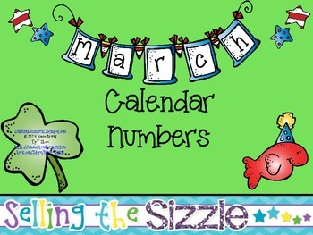 Calendar Numbers- March