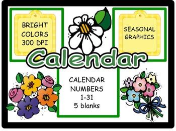 Calendar Numbers: May