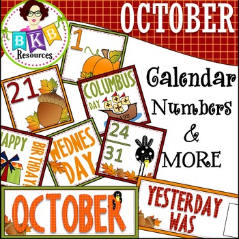 October Calendar Numbers ● Morning Math ● AB Patterns ●Day