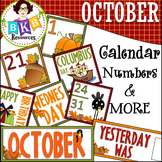 October Calendar Numbers ● Morning Math ● AB Patterns ●Days of the Week Cards