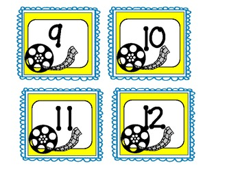 Calendar Numbers {Movie Theme}