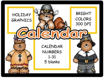 Calendar Numbers: November 2