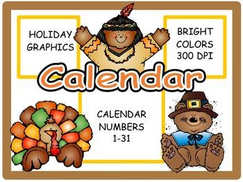 Calendar Numbers: November