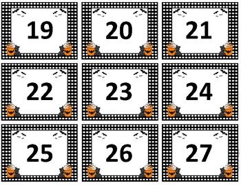 Calendar Numbers~ October Birthday Cupcake