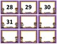Calendar Numbers~ Purple Polka Dot with Gold Trim Detective