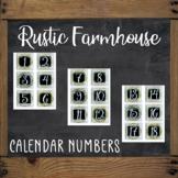 Calendar Numbers - RUSTIC FARMHOUSE Themed
