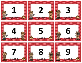 Calendar Numbers~ Red Polka Dot Detective