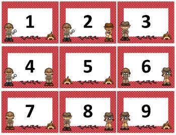 Calendar Numbers~ Red Polka Dot Detective