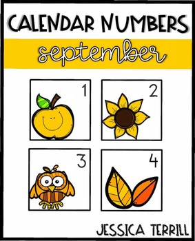 Calendar Numbers: September Bundle (Editable)