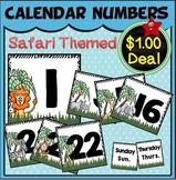 Calendar Numbers Set~ Safari Themed