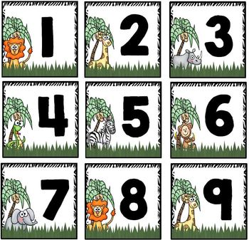 Calendar Numbers Set~ Safari Themed