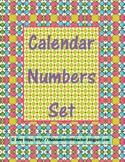 Calendar Numbers Set