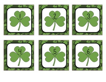 Calendar Numbers - Shamrock/St. Patrick's Day Theme