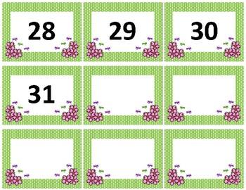 Calendar Numbers~ Spring