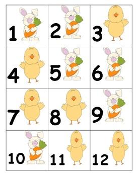 Calendar Numbers Spring