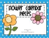 Calendar Numbers Spring Flowers - Blue Background