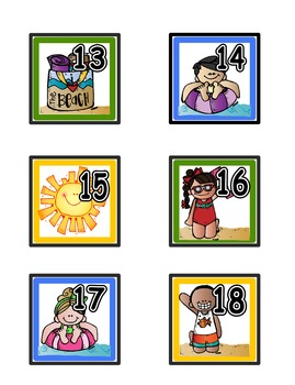 Calendar Numbers: Summer