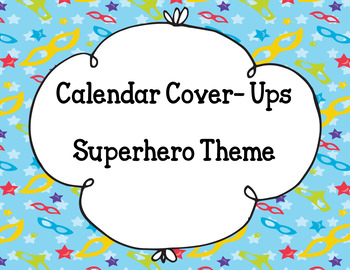 Calendar Numbers- Superhero Theme