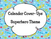 Calendar Numbers- Superhero Theme