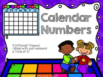 Calendar Numbers {Themed}