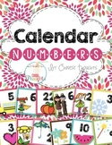 Calendar Numbers Through The Year-White