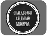Calendar Numbers -- White Chalkboard Style