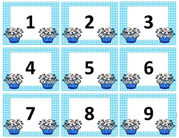 Calendar Numbers~ Winter Birthday Cupcake