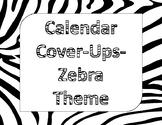 Calendar Numbers-- Zebra Theme