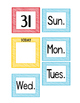 Calendar Numbers and Days