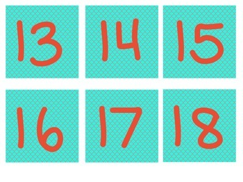 Calendar Numbers and Days of the Week