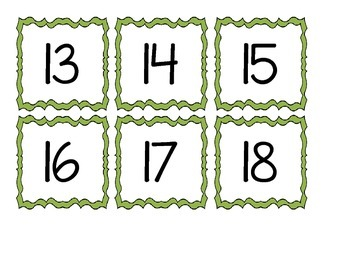 Calendar Numbers and Letters