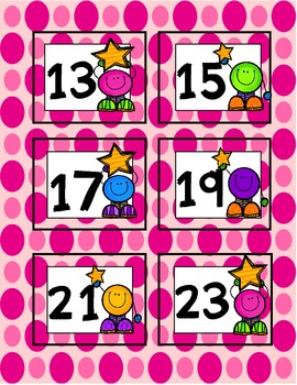 Calendar Numbers and Months {Rainbow Tots}