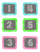 Calendar Numbers and Months Watercolor Chalkboard Set